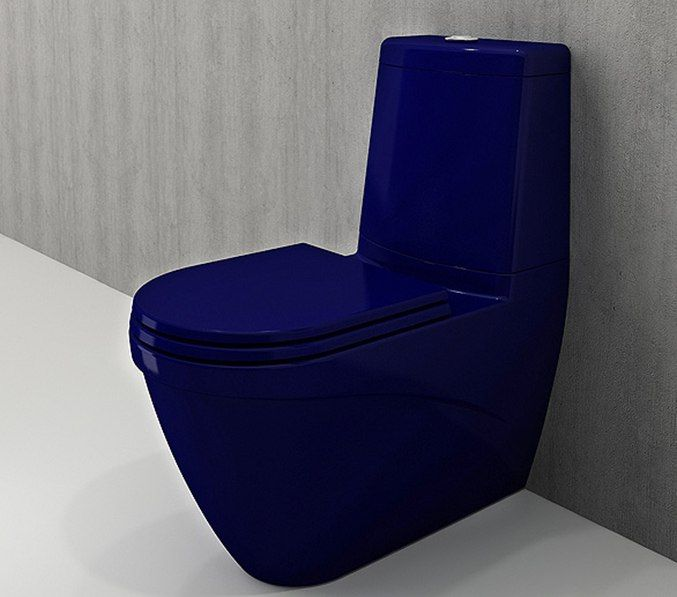 Bocchi Taormina Arch staande toiletpot glans blauw met reservoir