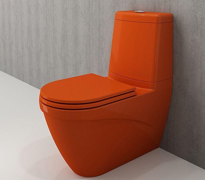 Bocchi Taormina Arch staande toiletpot glans oranje met reservoir