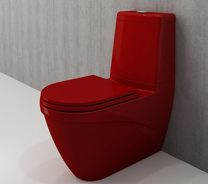 Bocchi Taormina Arch staande toiletpot glans rood met reservoir