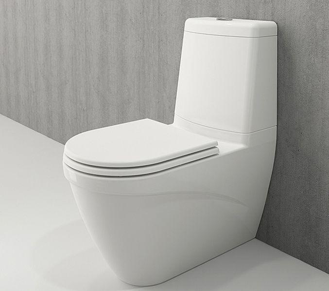 Bocchi Taormina Arch staande toiletpot glans wit met reservoir