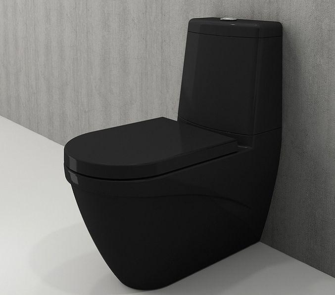 Bocchi Taormina Arch staande toiletpot glans zwart met reservoir