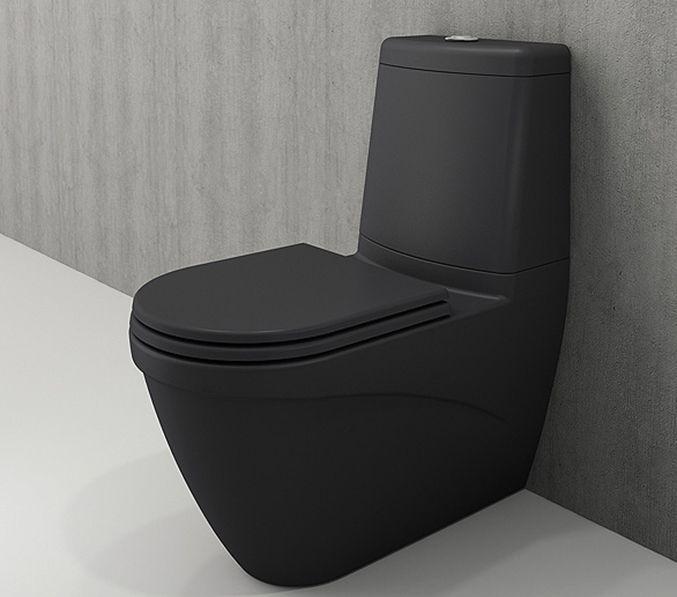 Bocchi Taormina Arch staande toiletpot mat antraciet met reservoir