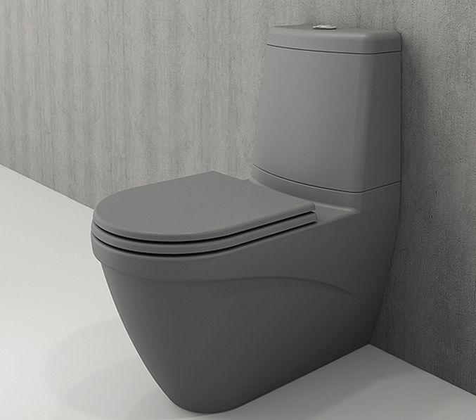 Bocchi Taormina Arch staande toiletpot mat grijs met reservoir