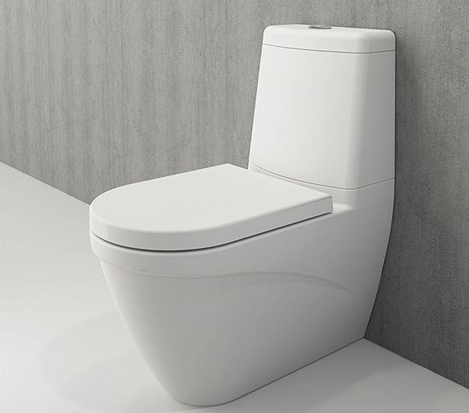 Bocchi Taormina Arch staande toiletpot mat wit met reservoir