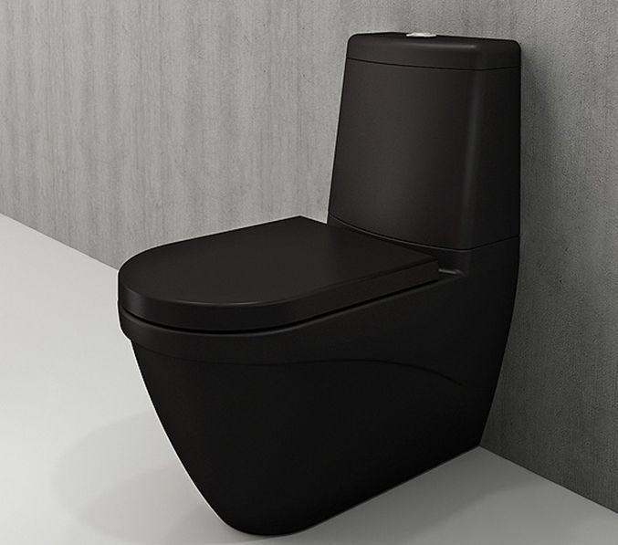 Bocchi Taormina Arch staande toiletpot mat zwart met reservoir