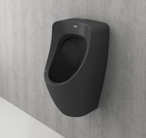Productafbeelding van Bocchi Taormina Pro urinoir met achter aansluiting mat antraciet