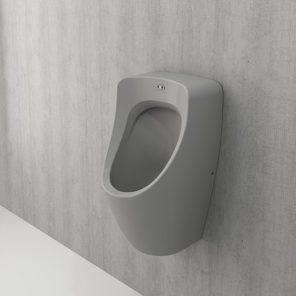Bocchi Taormina Pro urinoir met achter aansluiting mat grijs