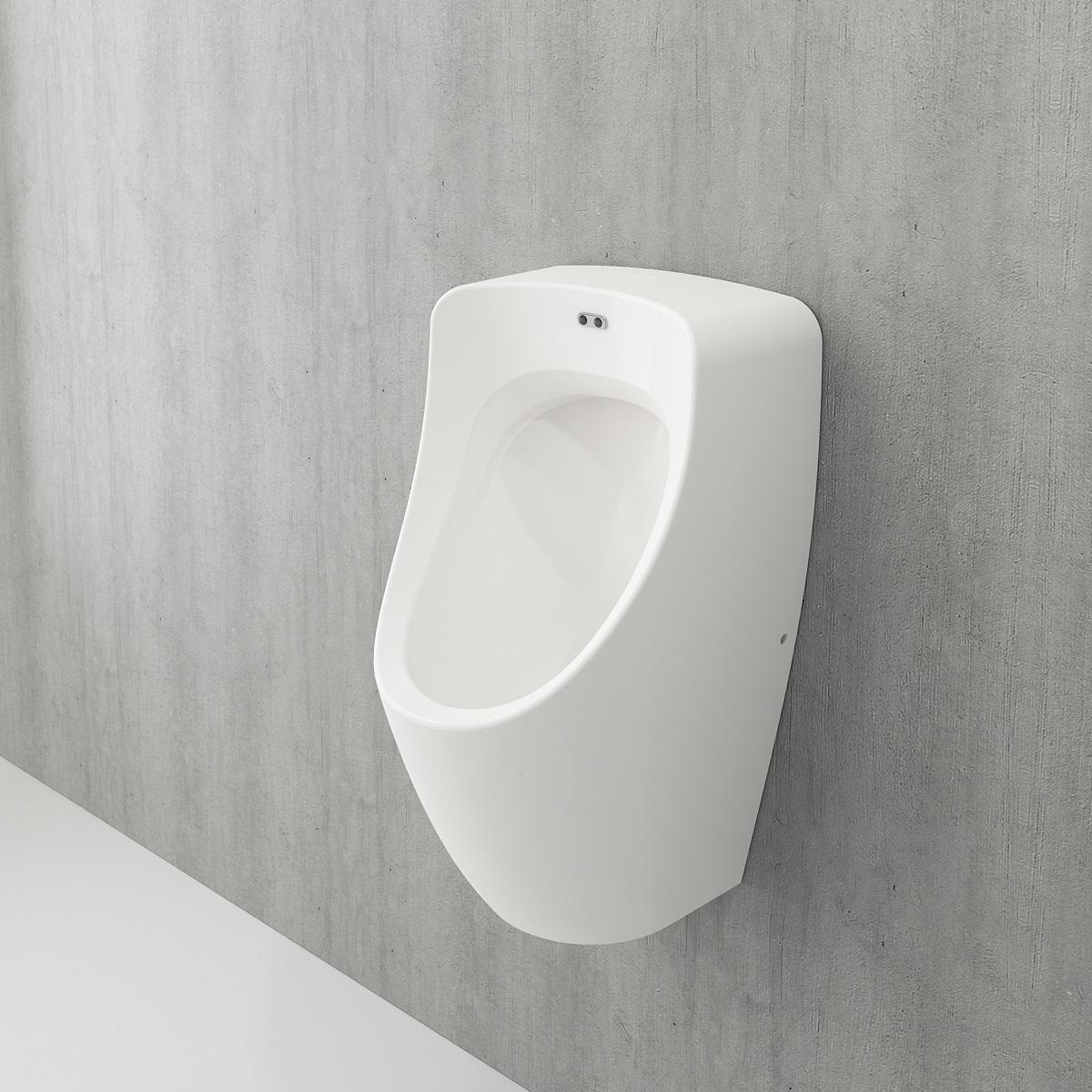 Bocchi Taormina Pro urinoir met achter aansluiting mat wit