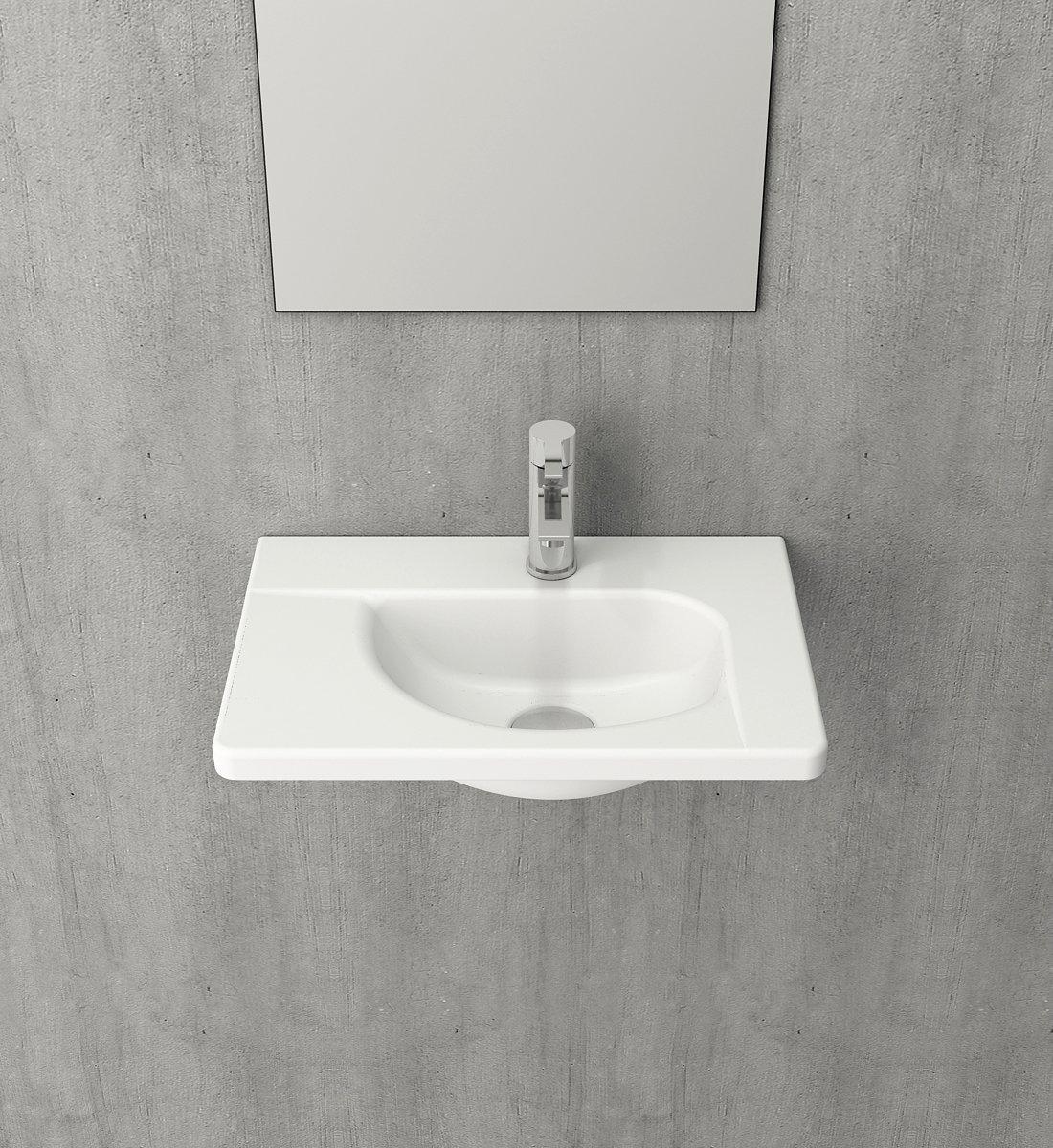 Bocchi Taormina wastafel 45x31cm mat wit