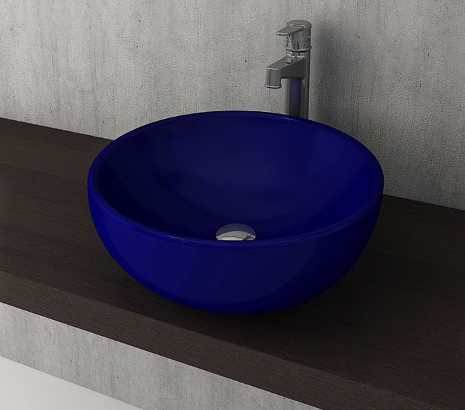 Bocchi Venezia waskom 45cm glans blauw
