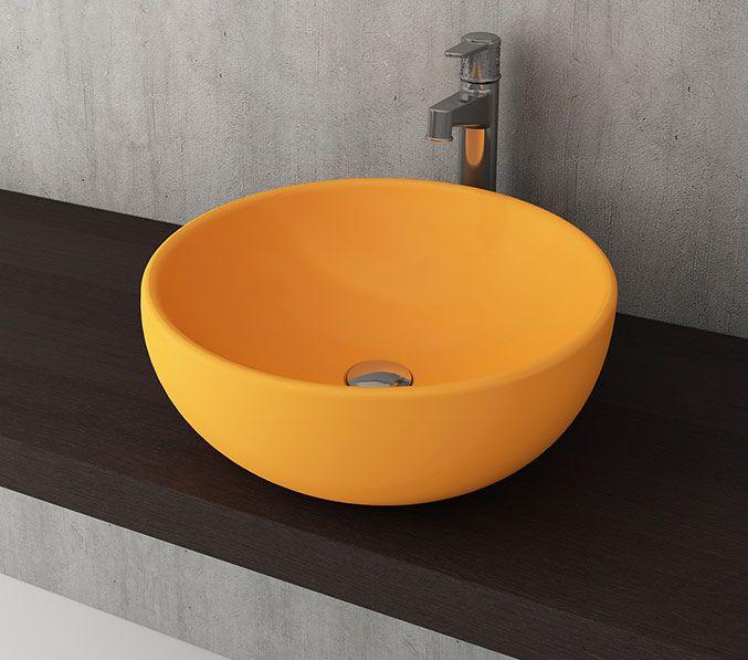 Bocchi Venezia waskom 45cm glans geel
