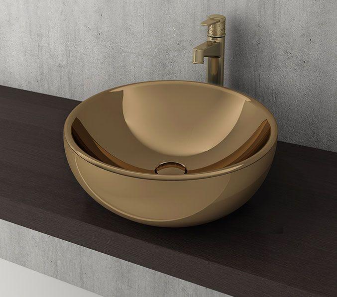 Bocchi Venezia waskom 45cm glans goud