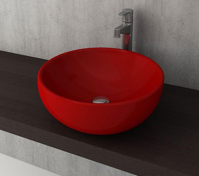 Bocchi Venezia waskom 45cm glans rood