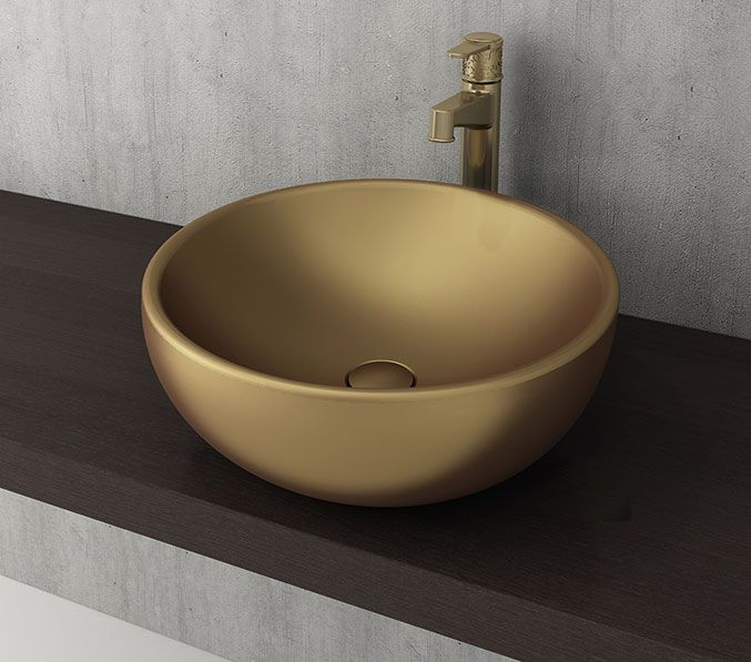 Bocchi Venezia waskom 45cm mat goud
