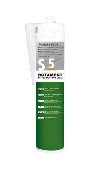 Botament Supax S5 sanitair siliconen kit antraciet
