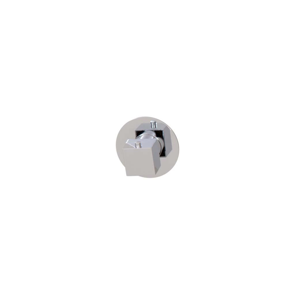 Brauer ColdStart Round - Square Inbouwthermostaat vierkante knop, ronde rozet