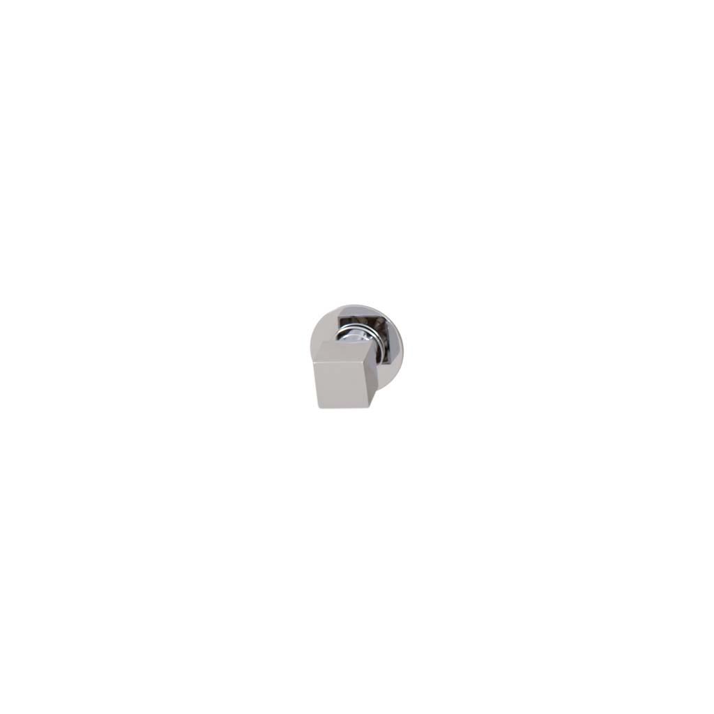 Brauer ColdStart Round - Square Stopkraan vierkante knop, ronde rozet