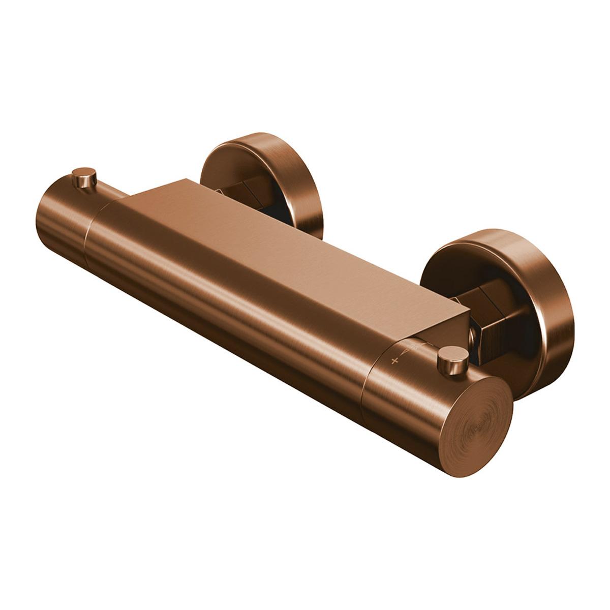 Brauer Copper Edition douche thermostaatkraan opbouw Koper Geborsteld PVD