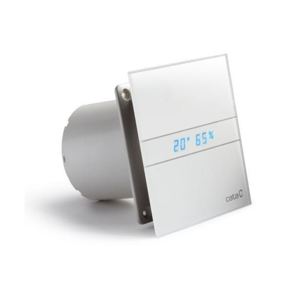 Cata E-100 GTH badkamer ventilator met timer & vochtsensor 4W-8W Ø100mm wit