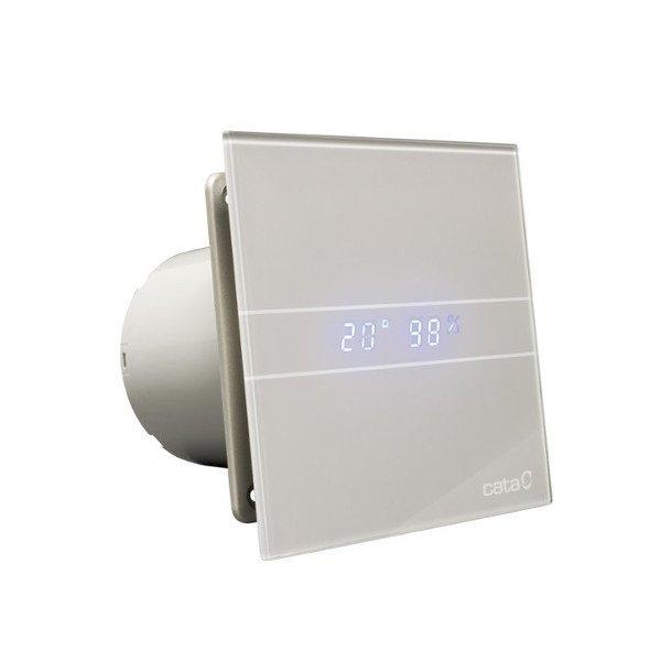 Cata E-100 GSTH badkamer ventilator met timer & vochtsensor 4W-8W Ø100mm zilver
