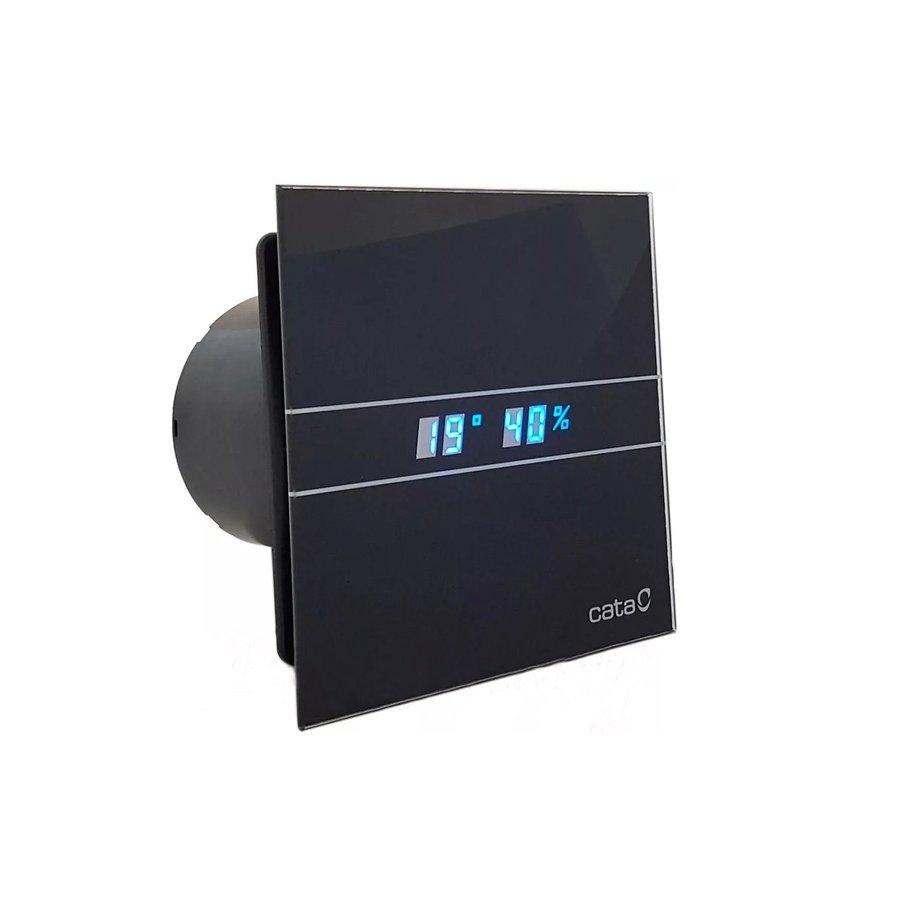 Cata E-100 GBTH badkamer ventilator met timer & vochtsensor 4W-8W Ø100mm zwart