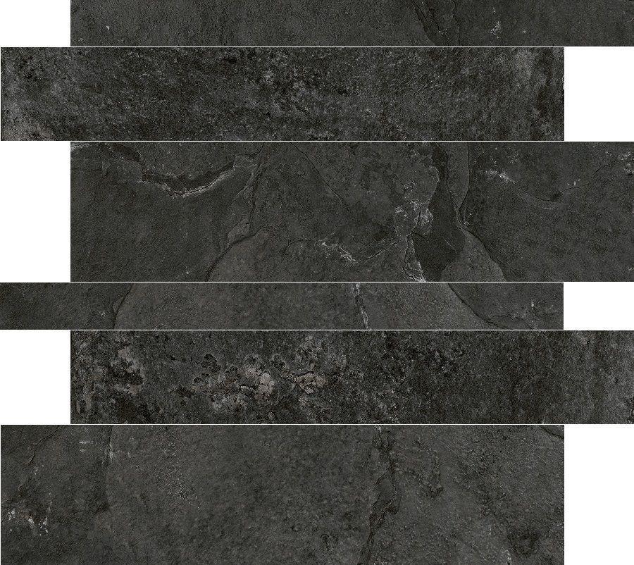 Cerdisa Tegelstroken Cerdisa Blackboard Anthracite 5-10-15x60cm