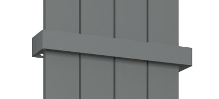 Eastbrook Charlton verticale aluminium radiator 180x47cm Antraciet 1441 watt