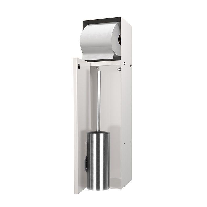 LoooX Closed inbouw toilettborstelhouder + toiletrolhouder betegelbaar Crème