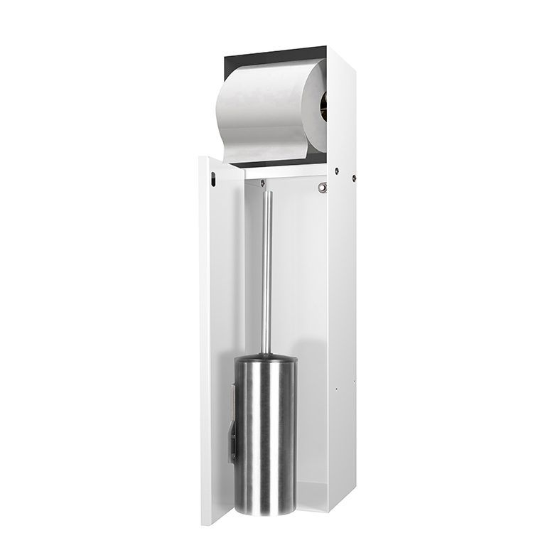 LoooX Closed inbouw toilettborstelhouder + toiletrolhouder betegelbaar Wit