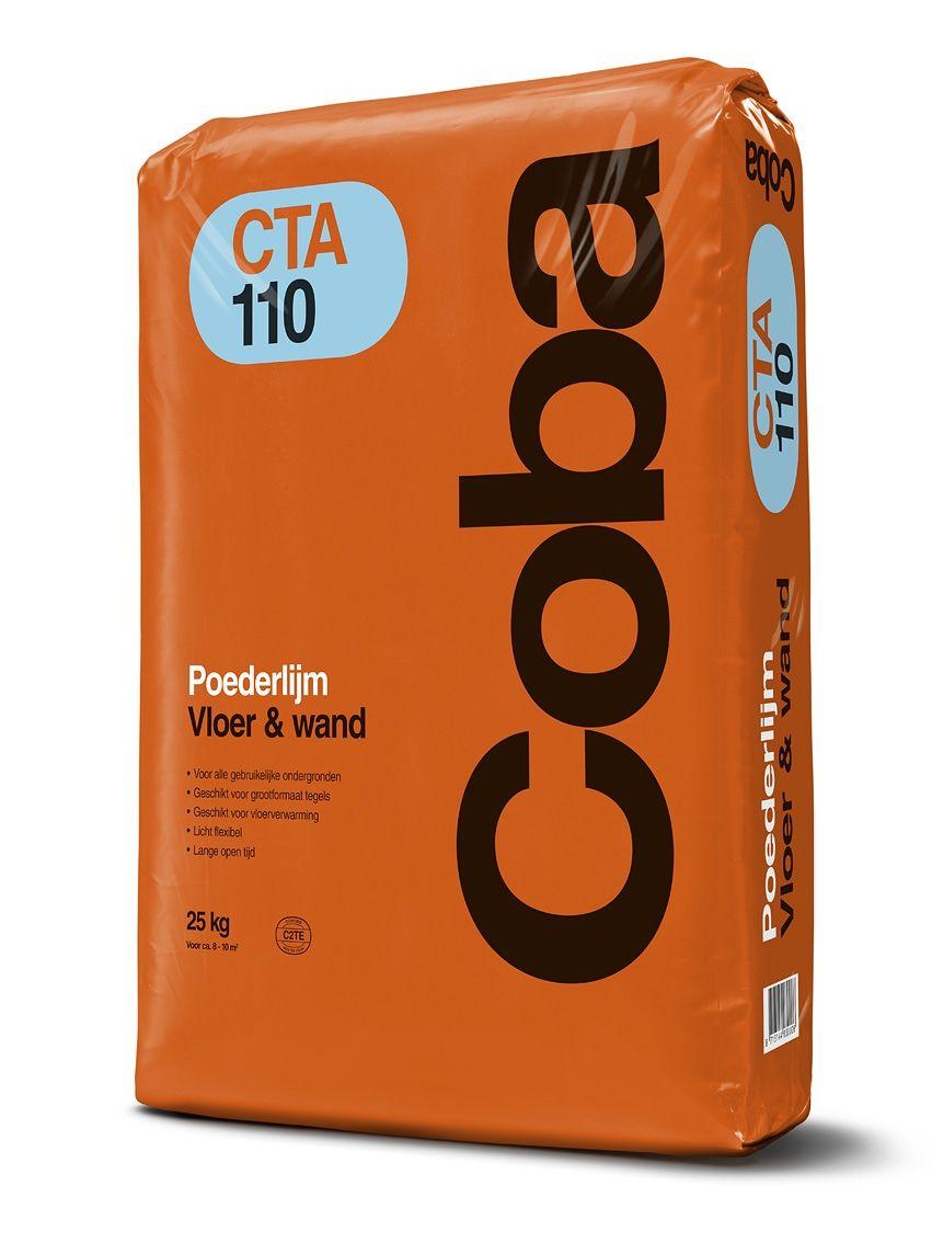 Coba CTA110 poederlijm a 25kg t.b.v. vloer- en wandtegels.