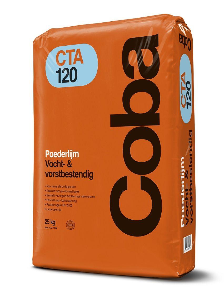 Coba CTA120 poederlijm a 25kg vocht en vorstbestendig.