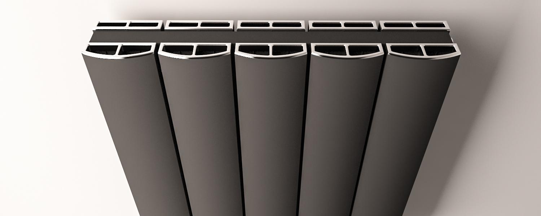Eastbrook Guardia radiatordeksel Chroom 123cm
