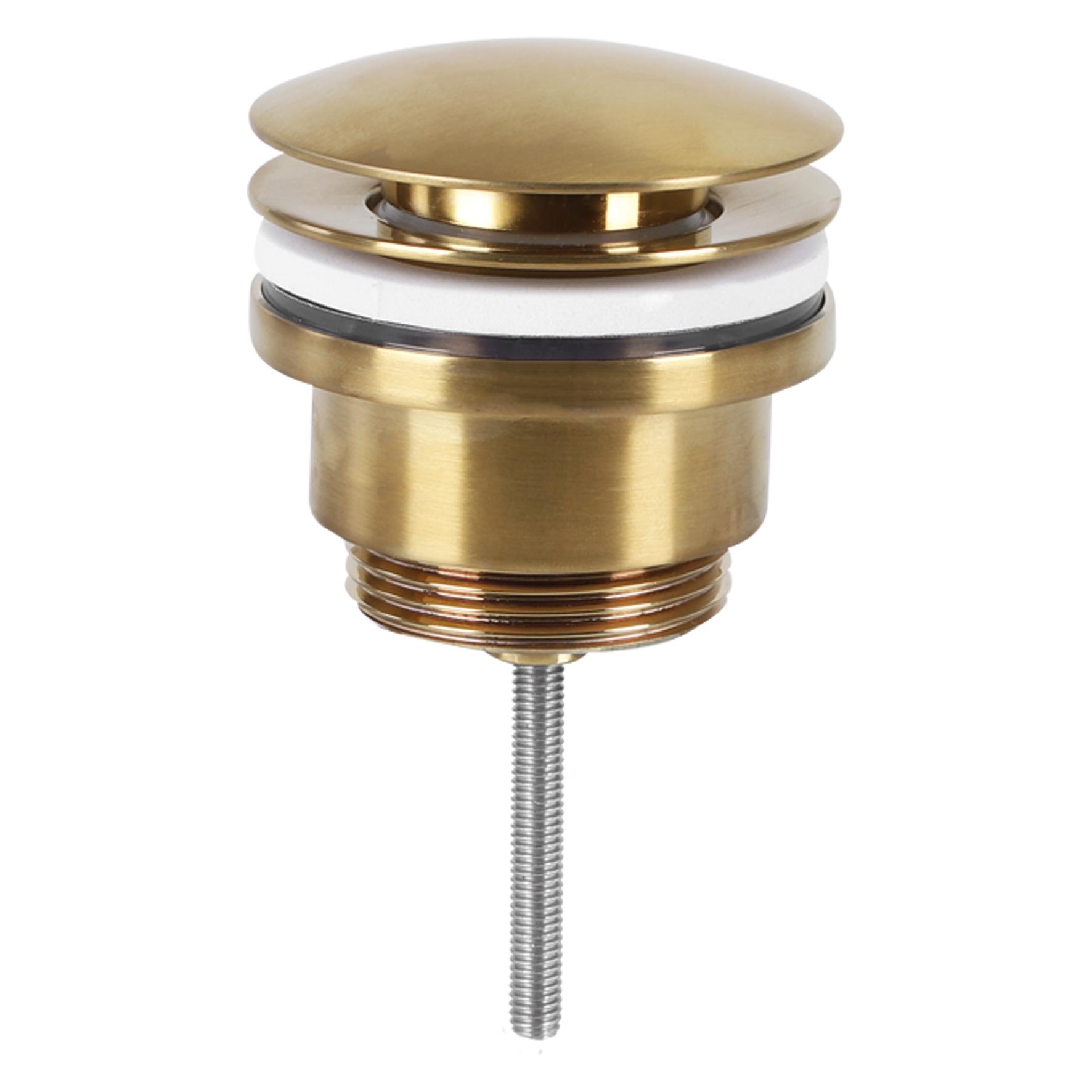 Differnz afvoerplug pop up design mat goud