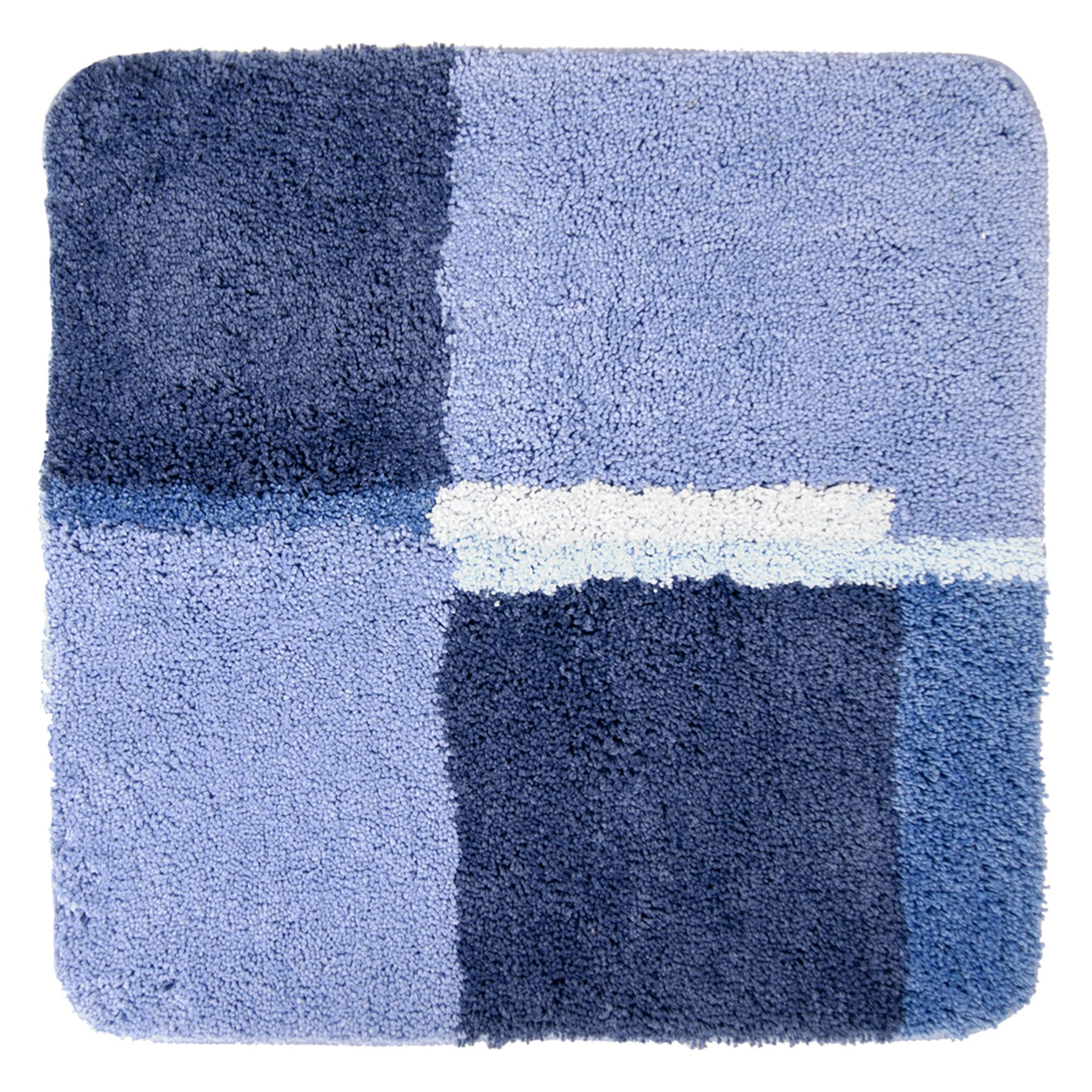 Differnz Cubes badmat 60x60 blauw