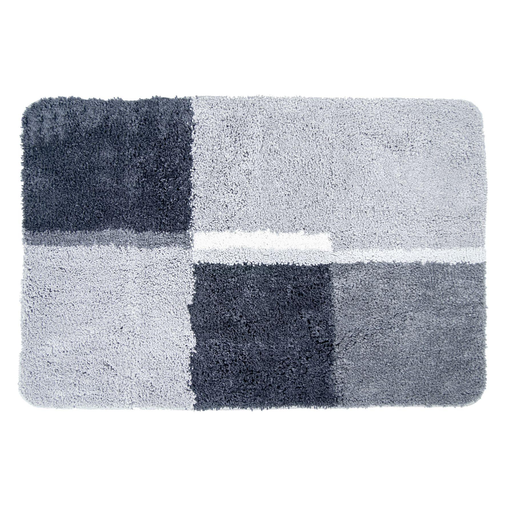 Differnz Cubes badmat 60x90 grijs