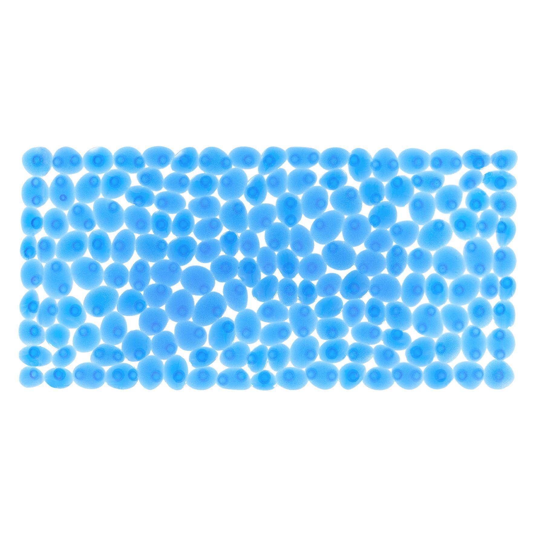 Differnz Lapis antislip badmat 75x35cm blauw