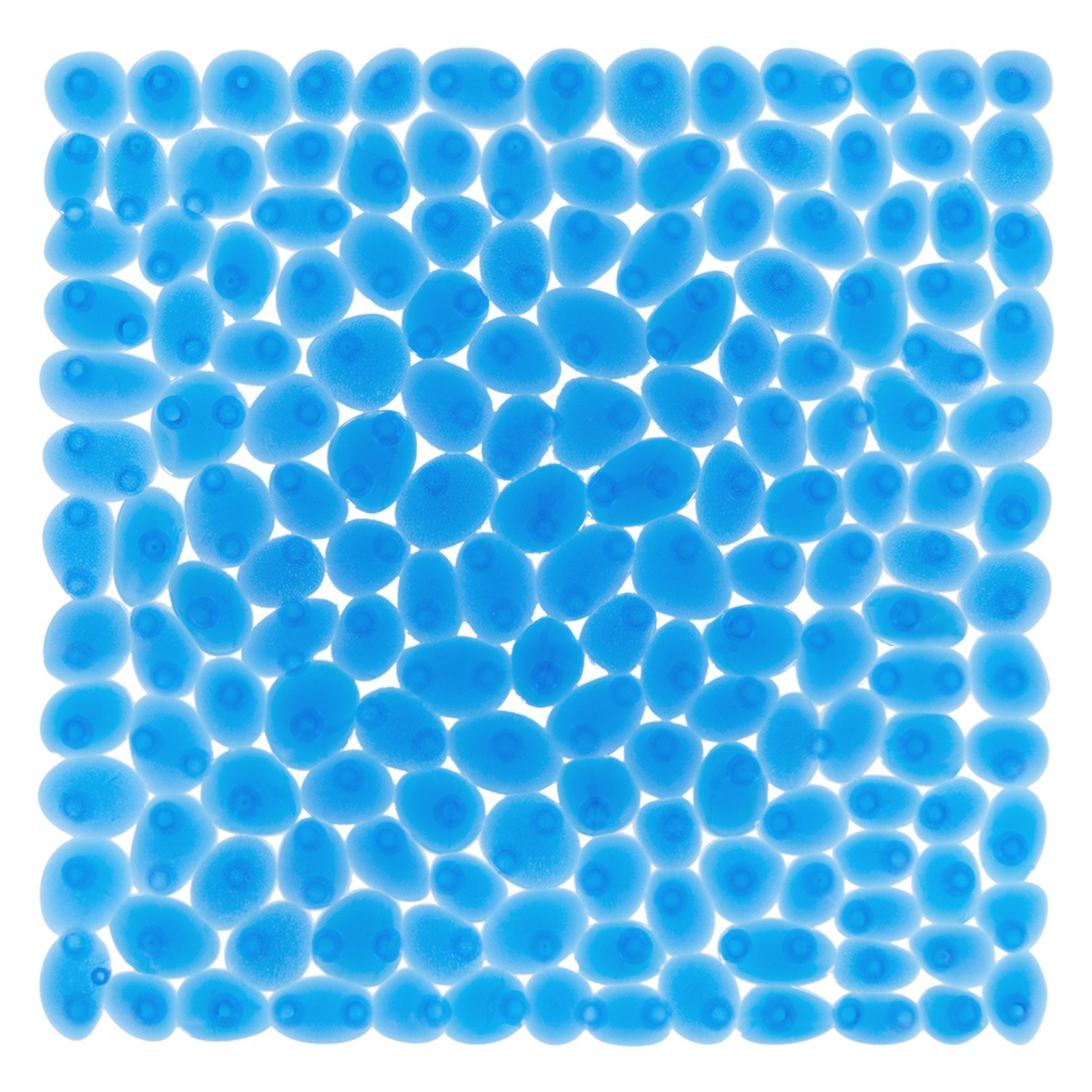 Differnz Lapis antislip douchemat 54x54cm blauw