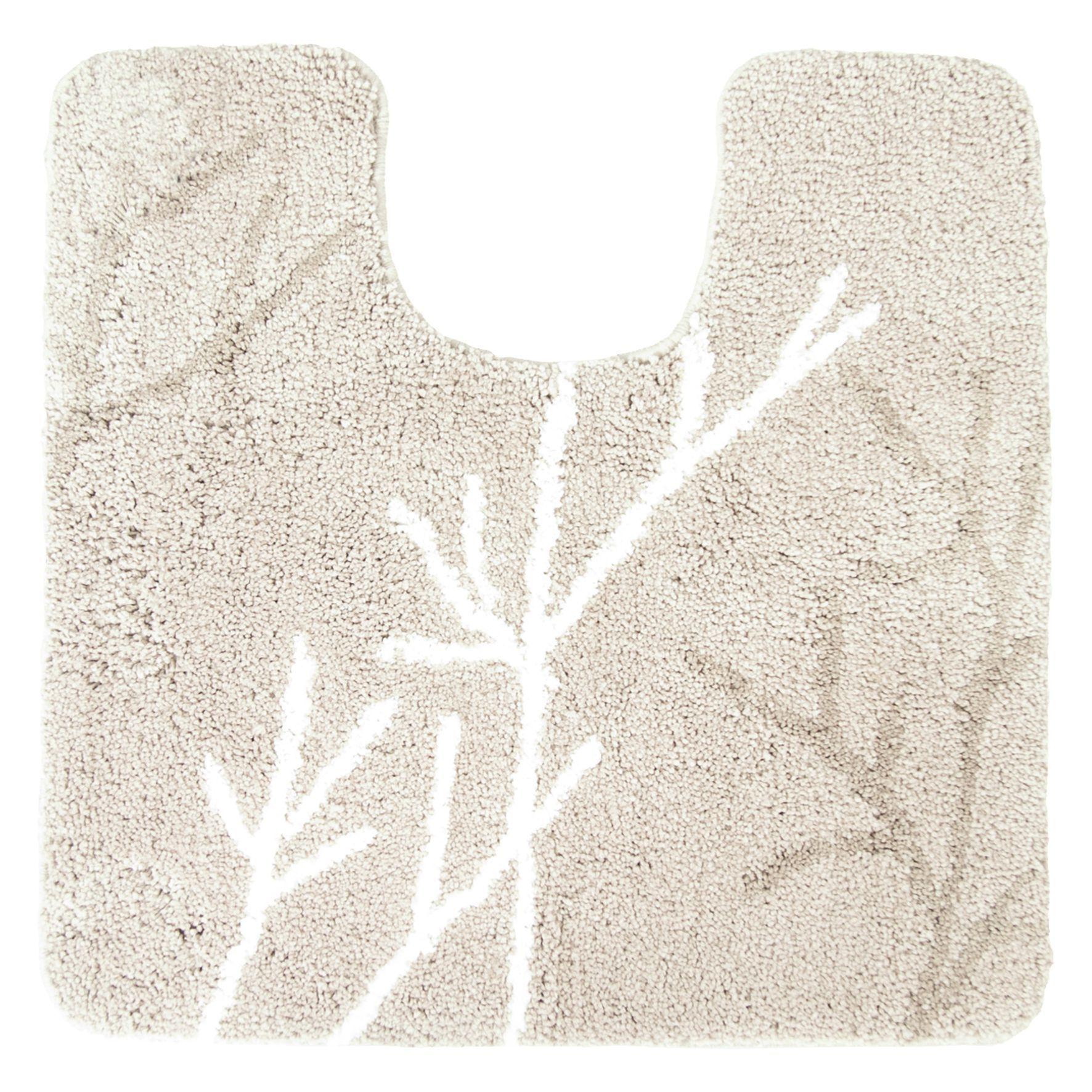Differnz Leaf toiletmat 60x60 beige