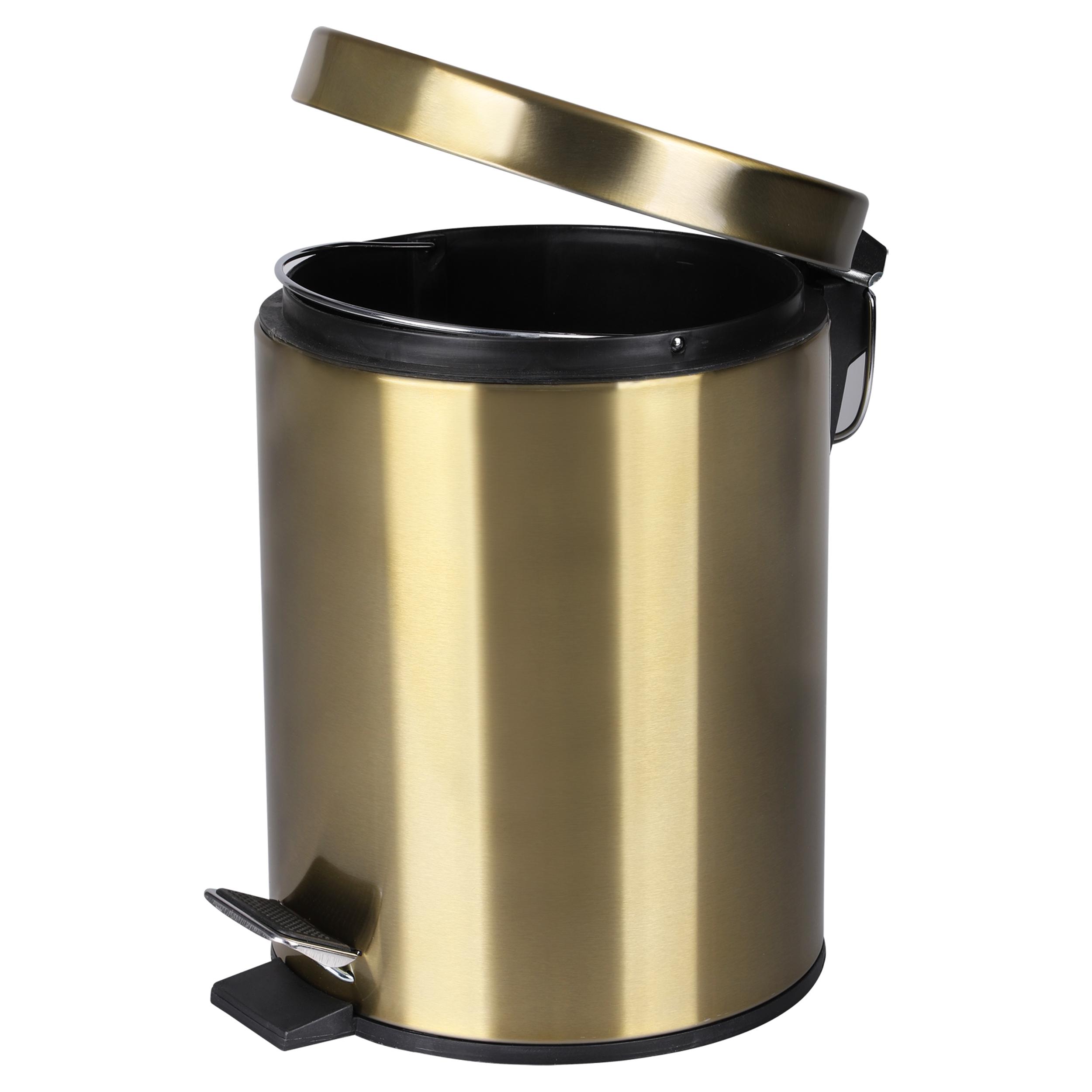 Differnz pedaalemmer 5 liter mat goud