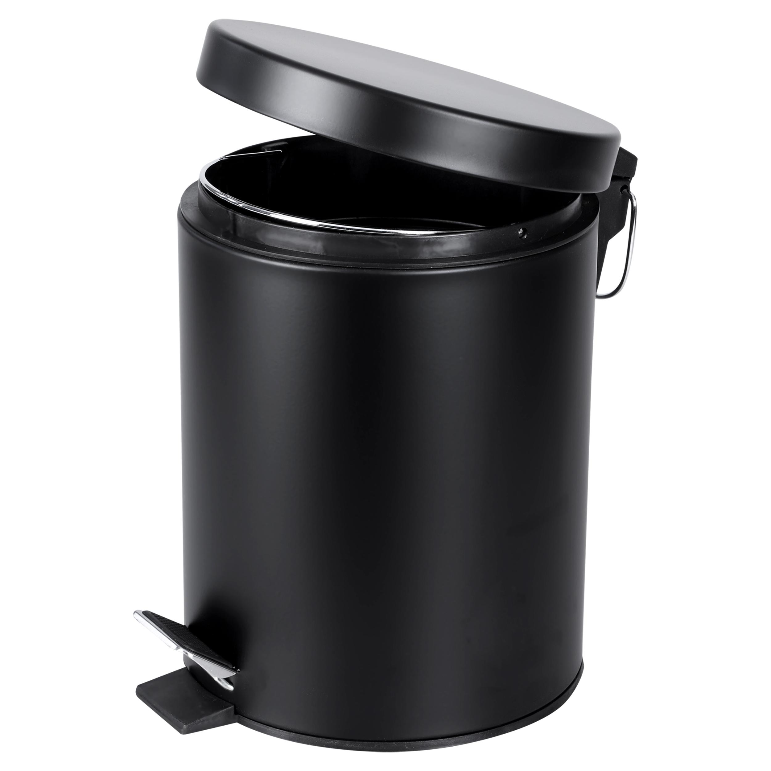 Differnz pedaalemmer 5 liter mat zwart