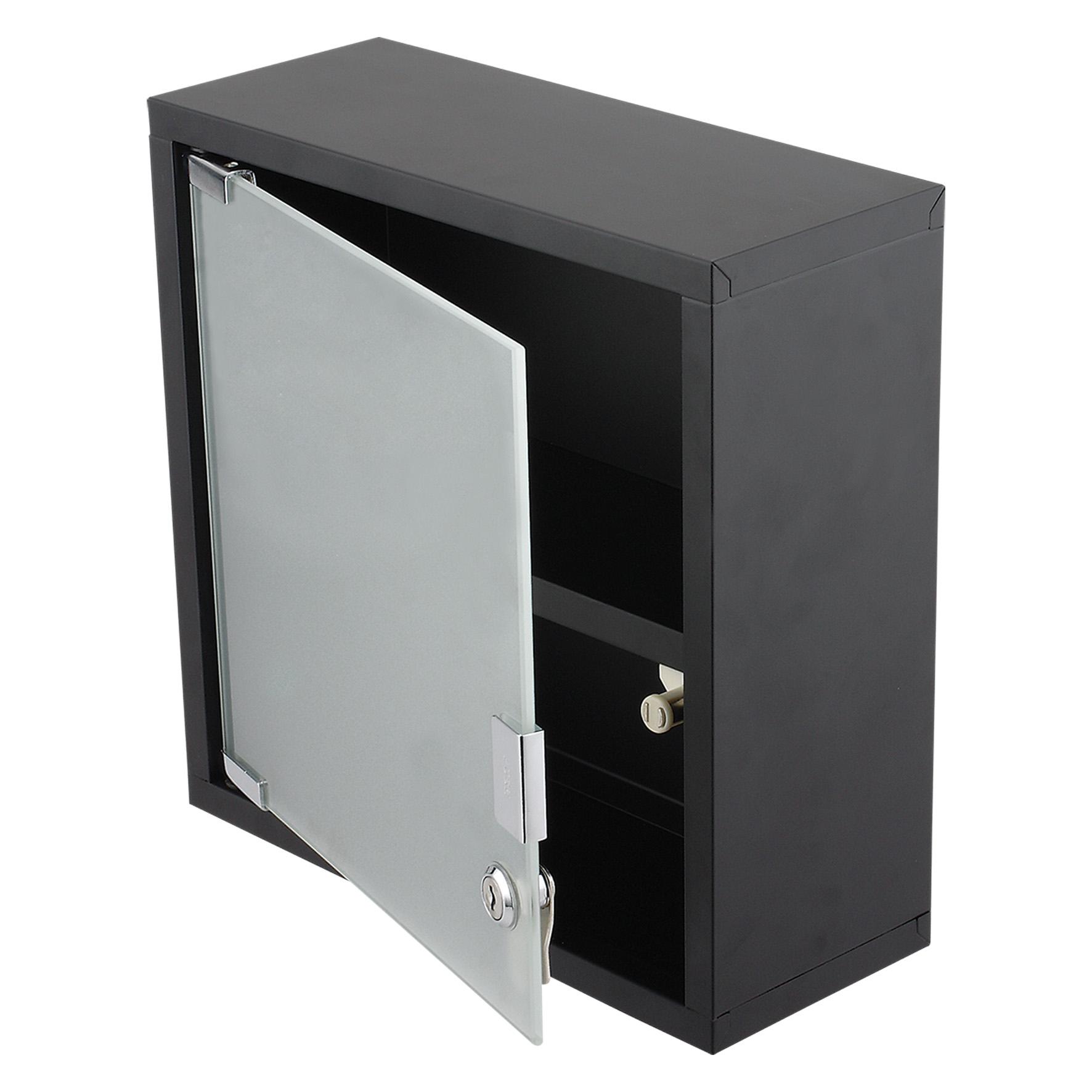 Differnz Quadro kubuskast 30x30x12cm zwart