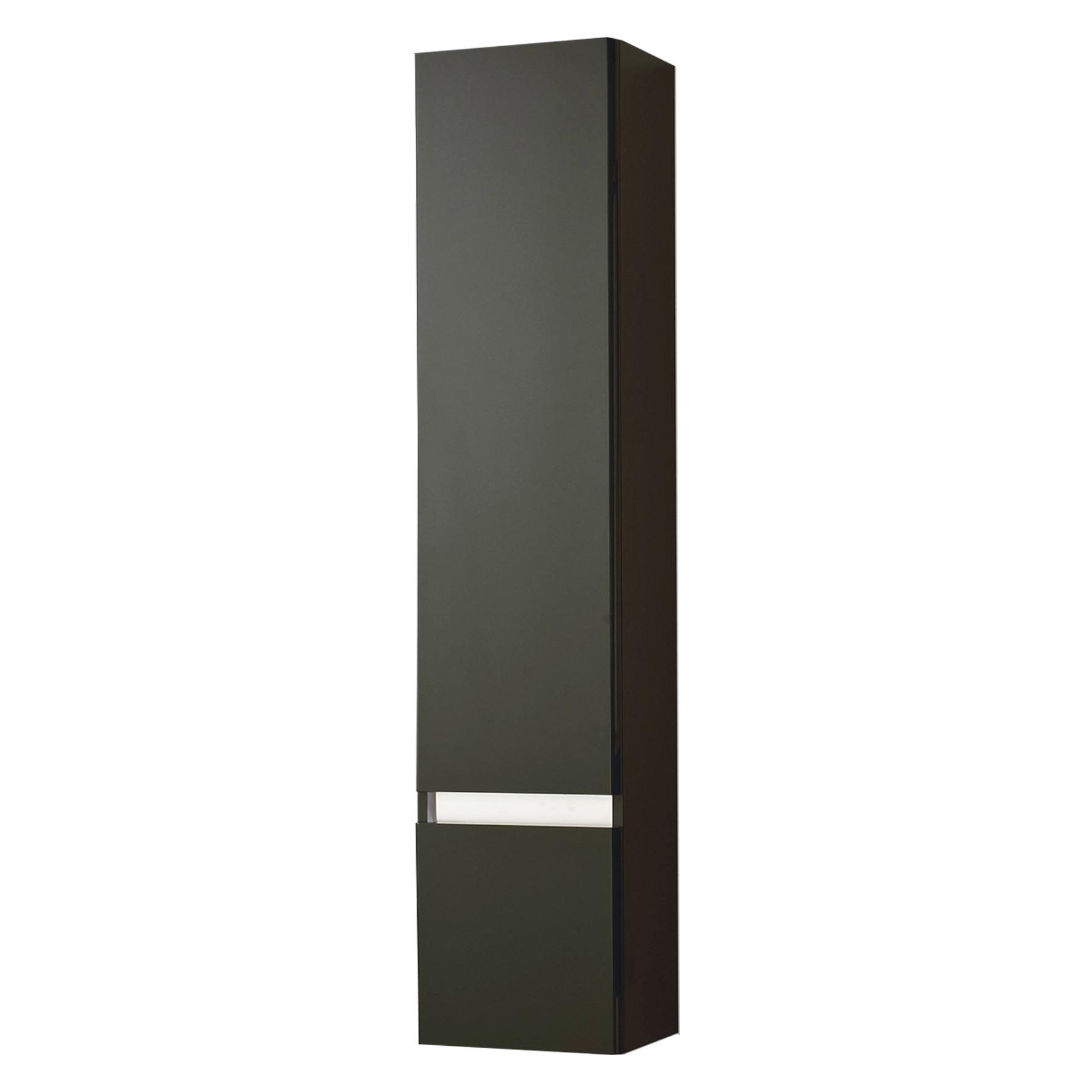 Differnz Stripe Kast Hoge links 35x156cm zwart