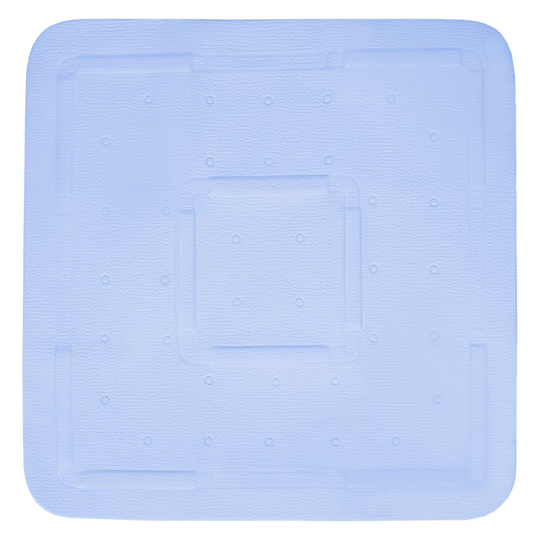 Differnz Tutus antislip douchemat 55x55cm blauw