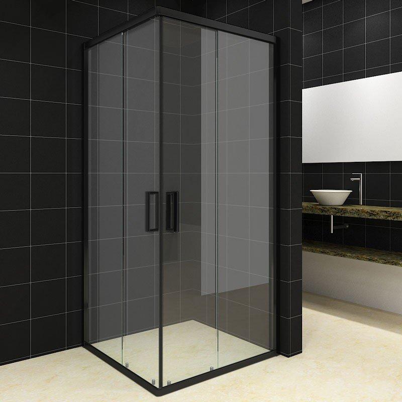 SaniGoods Torino Douchecabine 100x100 vierkant zwart