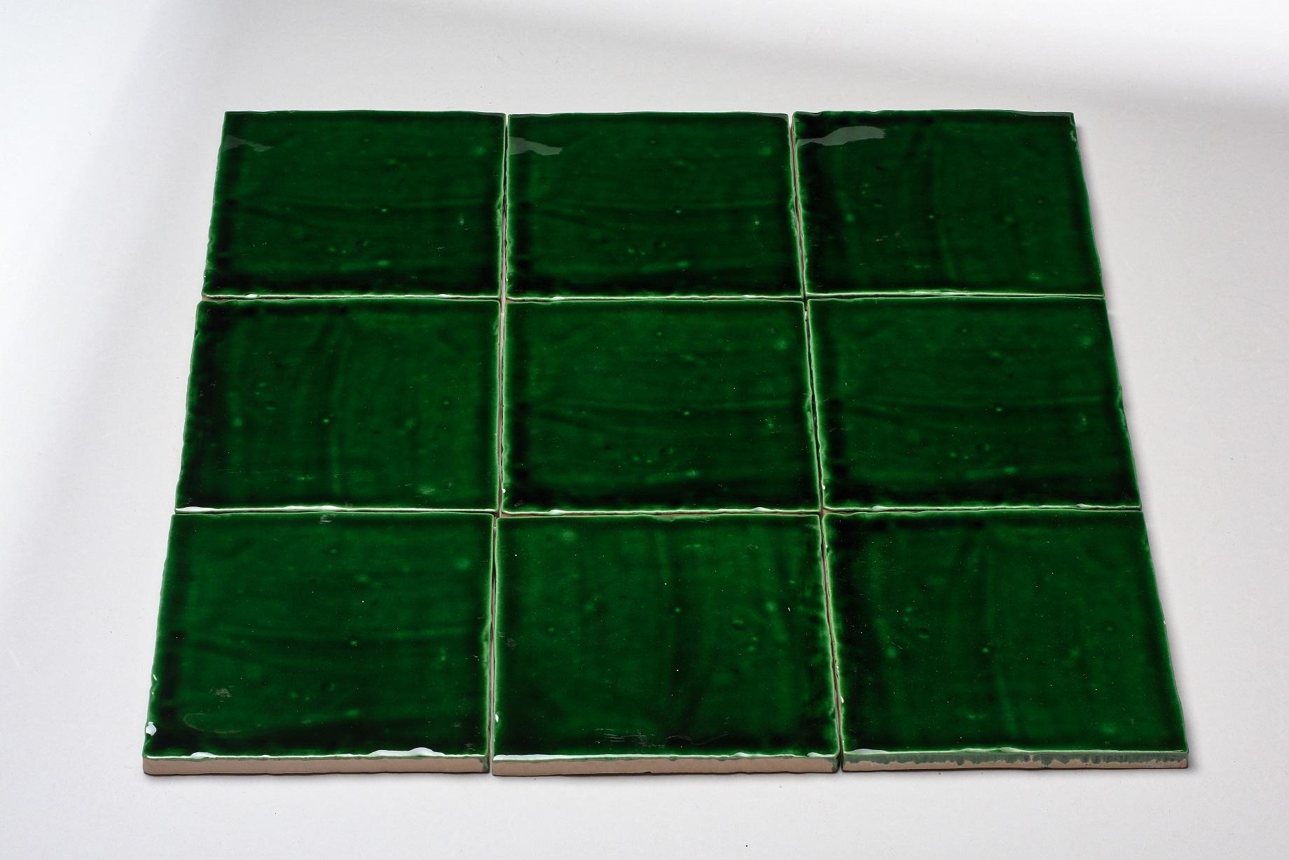 DTG Oud Hollands mozaïek wandtegel 13x13 oud groen