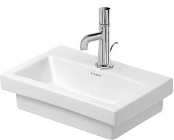 Duravit 2nd floor fontein 40x30cm m. kraangat z. overloop wit
