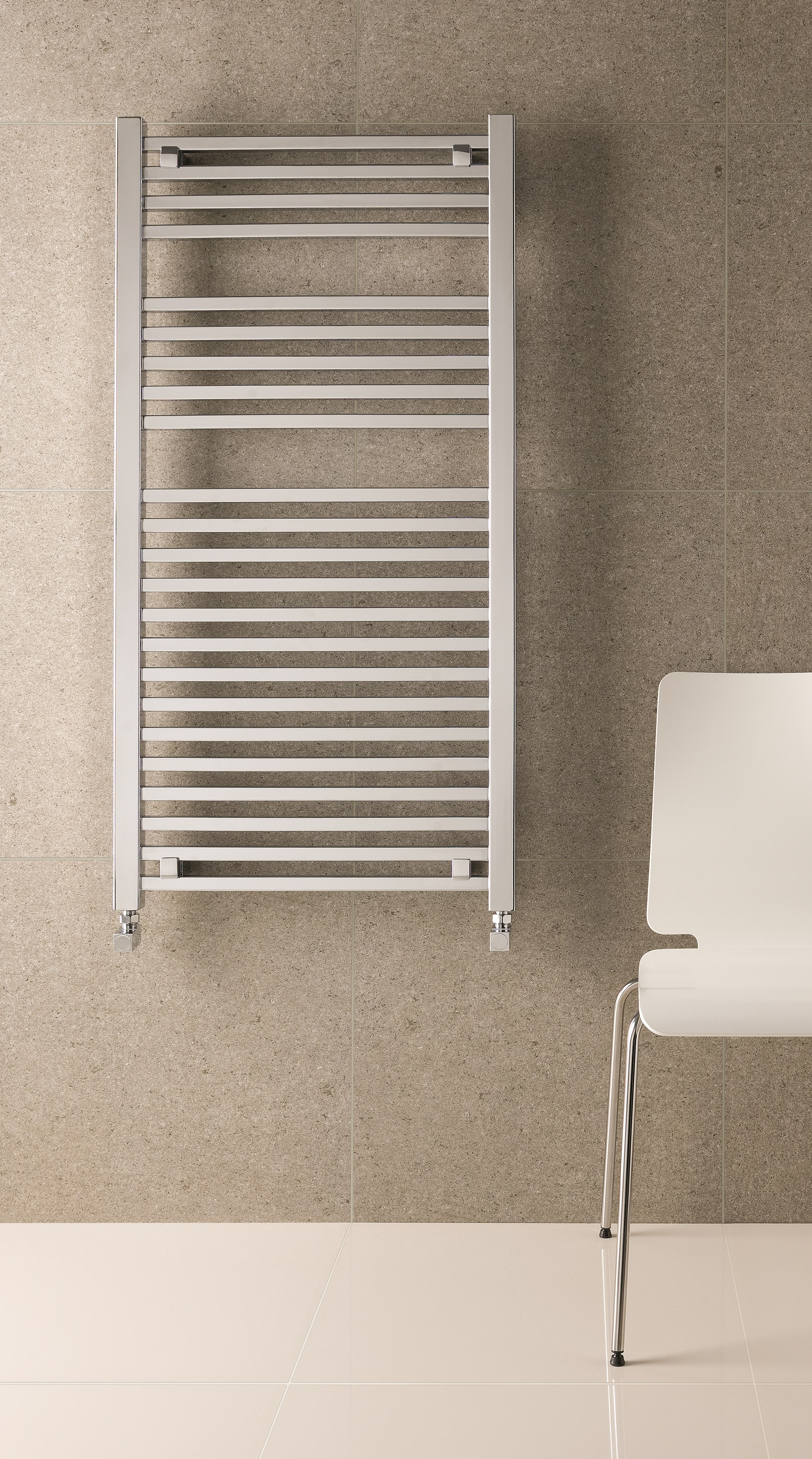 Eastbrook Biava Square handdoek radiator 120x50cm Chroom 612 watt