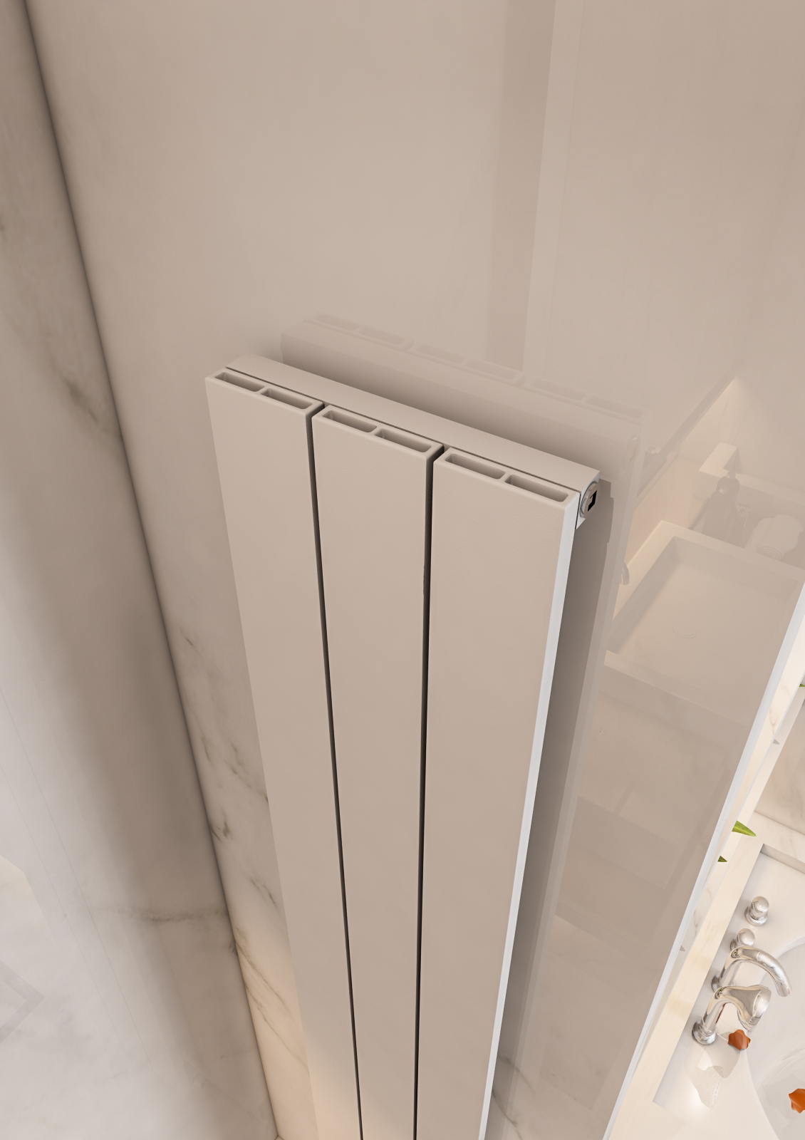 Eastbrook Charlton verticale aluminium radiator 180x28cm Mat wit 865 watt