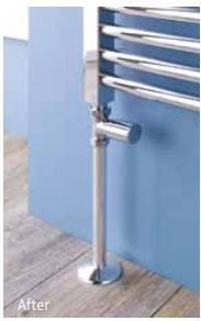 Eastbrook Pipes verdekking radiatorbuis 20cm met rozet chroom