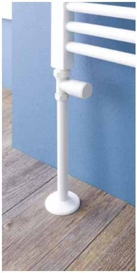 Eastbrook Pipes verdekking radiatorbuis 20cm met rozet wit